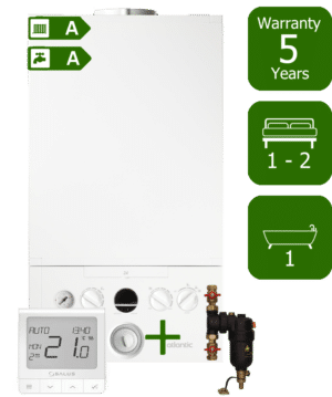 Ideal Atlantic 24kW Combi Boiler with Smart System Filter & Salus Quantum wireless programmable thermostat