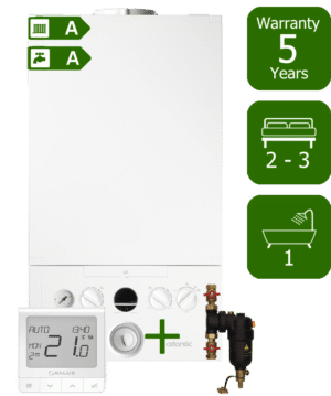 Ideal Atlantic 30kW Combi Boiler with Smart System Filter & Salus Quantum wireless programmable thermostat