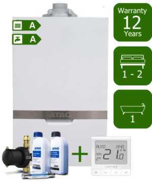 Atag iC 24kW Combi Boiler with Atag Comfort Pack and Salus Quantum wireless programmable thermostat