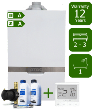 Atag iC 28kW Combi Boiler with Atag Comfort Pack and Salus Quantum wireless programmable thermostat