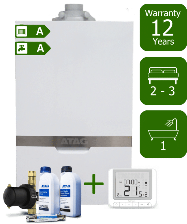 Atag iC 28kW Combination Boiler with Atag Comfort Pack & Salus RT520RX Wireless Programmable Room Thermostat