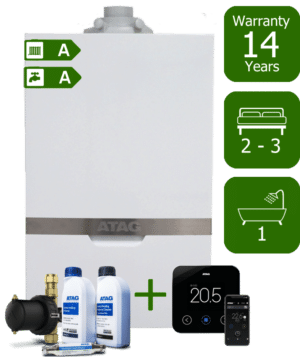 Atag iC Economiser 27kW+ Combination Boiler with Atag Comfort Pack & Atag One Wireless & Internet-Enabled Programmable Room Thermostat