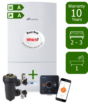 Worcester Bosch Greenstar CDi Compact 28kW Combination Boiler with Worcester Bosch System Filter & Hive Active Heating Wireless & Internet-Enabled Programmable Room Thermostat