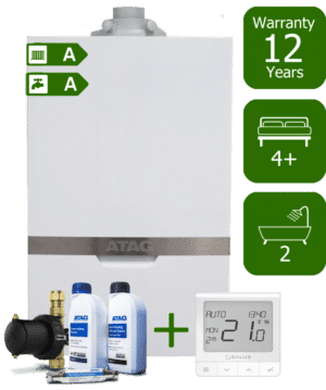 Atag iC 40kW Combi Boiler with Atag Comfort Pack and Salus Quantum wireless programmable thermostat