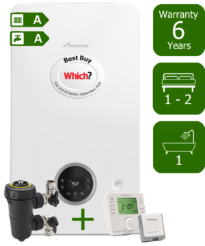 Worcester Bosch Greenstar 2000 25kW Combination Boiler with Worcester Bosch Filter & Worcester Bosch Comfort+ II